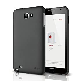 elago G4 Slim Fit Case for at&t, International Galaxy Note - (Soft Feeling) Black - ECO PACK