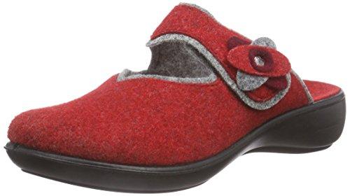 Romika Ibiza Home 304, Pantofole non imbottite donna, Rosso (Rot (rot-grau 408)), 40