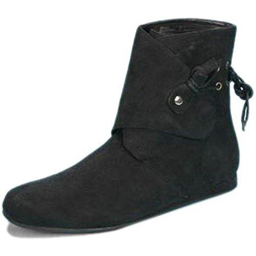 [Adult Women's Suede Renaissance Boot (Sz:Lrg 9-10)] (Suede Renaissance Boot Costumes)