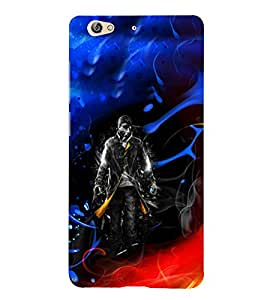 PrintVisa Cool Boy Fire Ice 3D Hard Polycarbonate Designer Back Case Cover for Gionee S6