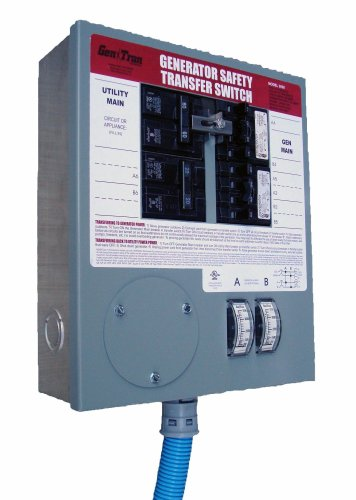 413HYPLc iL GenTran 3028 8 Circuit 30 Amp Transfer Switch For Up To 7500 Watt Generators