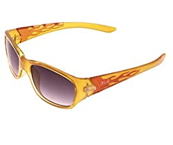 Kings n Queens Rectangular Sunglasses (Yellow) (B5504)