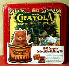 1992 Crayola Crayon Collectible Holiday Tin