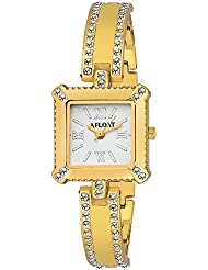 AFLOAT Analog White Dial Stainless Steel Golden Wrist Watch For_Women, Girls