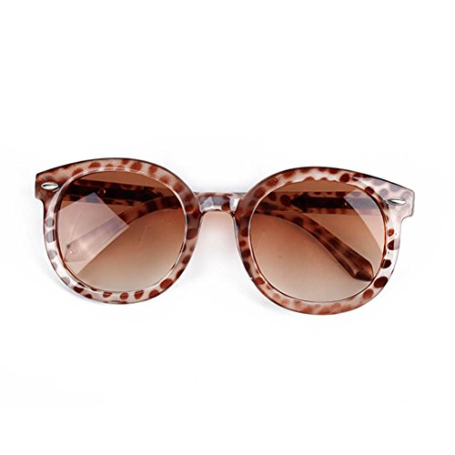 Xinhuaya Kids Toddlers Round Sunglasses Arrow Style Eyeglasses UV400 Leopard
