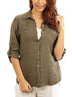Maison du Lin Camisa Mujer E17 Athenes 9078 (Caqui)