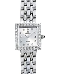 Euro Geneve 14K White Gold Ladies' Diamond Square Watch