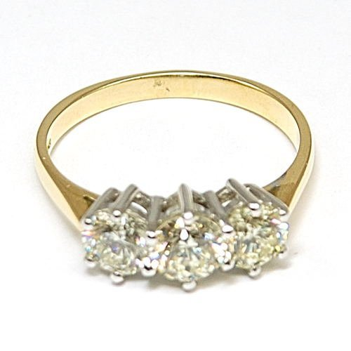 Triology Diamond Ring 3 Stone 18ct Gold 1.77ct Size P Size P
