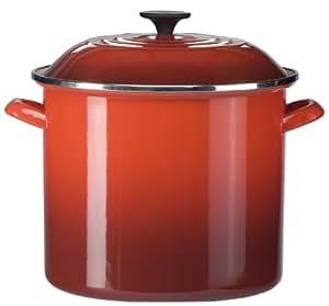 Le Creuset Enamel-on-Steel 20-Quart Covered Stockpot (Cherry Red)