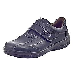 Jomos Men\'s Black Leder Uniform Dress Shoes 51