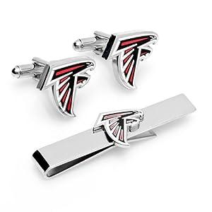 Atlanta Falcons Cufflinks and Tie Bar Gift Set by Cufflinks