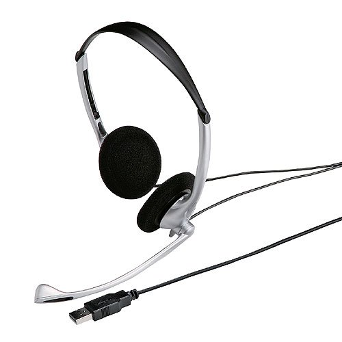 サンワサプライ USBヘッドセット シルバー MMZ-HSUSB10SV