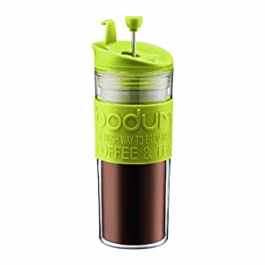 Bodum Insulated Plastic Travel French Press Coffee and Tea Mug, 0.45-Liter, 15-Ounce,... by Bodum
