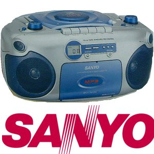 Sanyo- MX-780 Portable Stereo CD/CD-R/CD-RW Radio Cassette Recorder With Cd/Mp3
