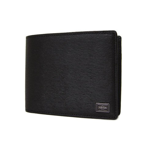 [ポーター] PORTER CURRENT カレント 二つ折り財布 052-02204(ブラック)