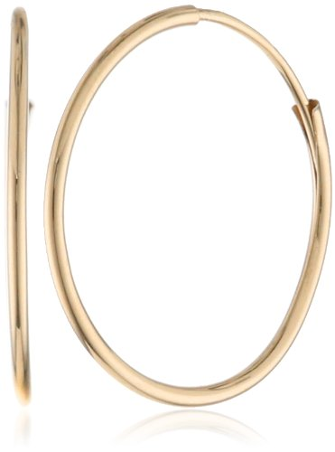 "Klassics 10k Gold Endless Hoop Earrings, (0.55"" Diameter)"