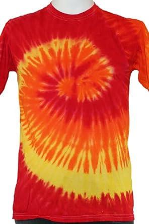 Tie Dye Red And Orange Unisex T Shirt Clothing