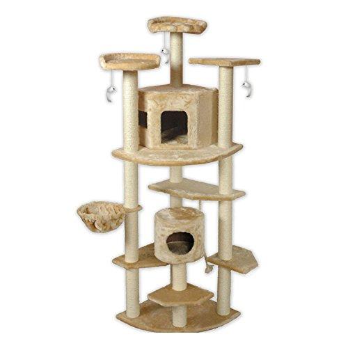 Go Pet Club Cat Tree, 80-Inch, Beige