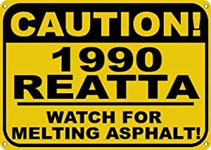 1990 90 BUICK REATTA Melting Asphalt Sign