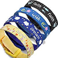 Pack of 4 Colorful Sport Straps for Plain or Medical ID Tag SM Adjustable 4-6 inches by StickyJ
