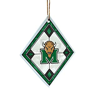 Buy NCAA Marshall Thundering Herd Art Glass Ornament by The Memory Company