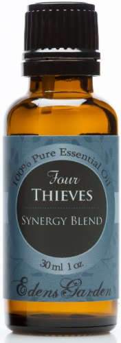 Four Thieves Synergy Blend Essential Oil by Edens Garden (Comparable to Young Living's Thieves & DoTerra's ON GUARD blend)- 30 ml
