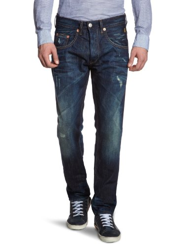 Herrlicher Men's 5701 D3120 Train Straight Leg Jeans Blue (Aged 060034) 38/34