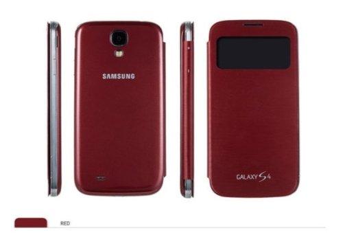 Samsung純正S-VIEW COVERGalaxy S4(SC-04E)専用 -7色- docomo LTE専用 NEW FLIP CASE フリップ カバー (レッド)
