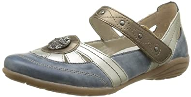 Remonte D4600 14, Chaussures de ville femme - Bleu (Bleu Combiné), 36 EU (3.5 UK) (5.5 US)
