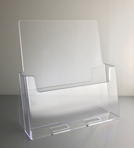Dazzling Displays Clear Acrylic 8.5 x 11 Brochure Holder Countertop Display (Acrylic Display Holders compare prices)