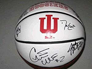 Indiana Hoosiers Team Signed Basketball Jordan Hulls Christian Watford Hollowell -... by Sports+Memorabilia