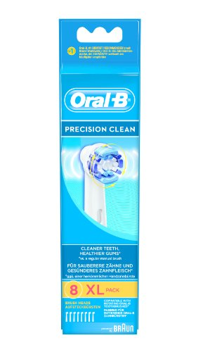 Brauneb20-8 Precision Clean Replacement Rechargeable Toothbrush Heads (pack Of 8) (packaging May Vary) By Oral-b