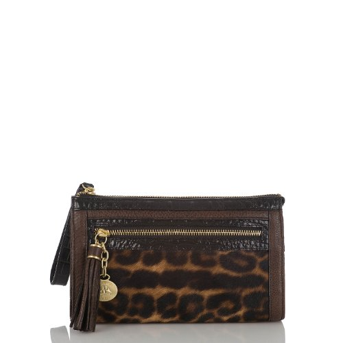 Anna Wristlet<br>Leopard Color Block