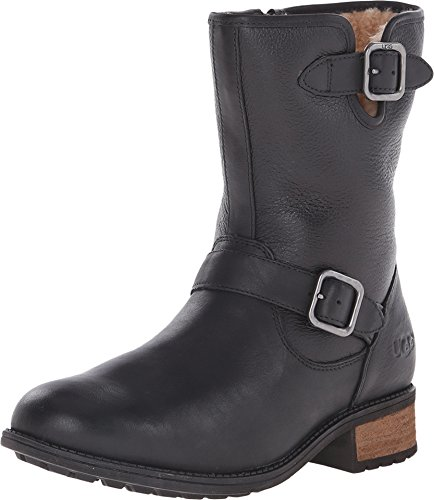 ugg-womens-chaney-black-twinface-leather-boot-9-b-m