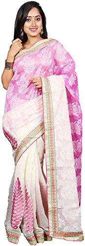 Vinaa Sarees Women's Jute Saree (A1000021