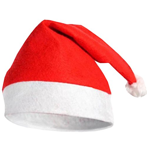 Waboats Velvet Santa Hat Plush Trim Party Accessory