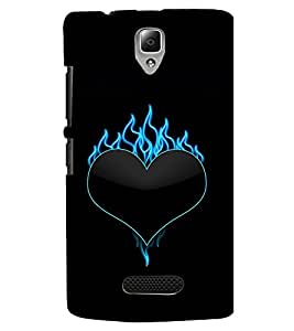 TOUCHNER (TN) Love Fire Back Case Cover for Lenovo A2010