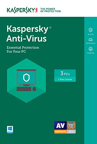 Kaspersky Anti-Virus 2017 | 3 Device | 1 Year | Download