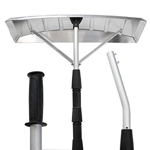 "Lowest Prices! XtremepowerUS 15-Foot Aluminum Snow Roof Rake with 25""x6"" Blade"