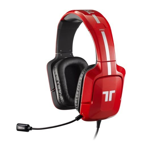 TRITTON PRO+ Casque Gaming True 5.1 Surround compatible PS4 / PS3 / Xbox 360  / Wii U / PC / Mac – Rouge glossy