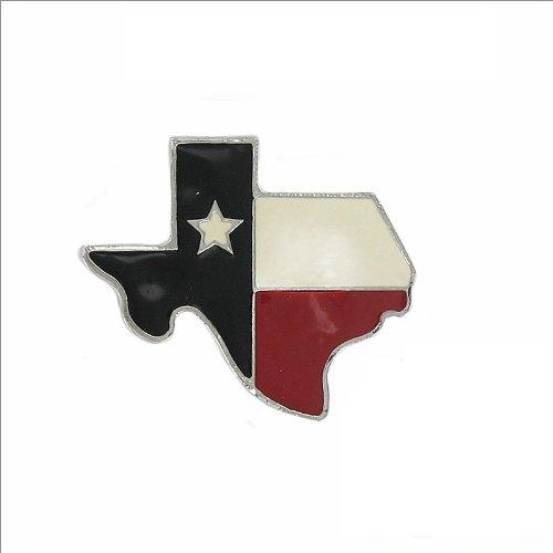 Texas Flag W Texas Map Shape Pin #009510