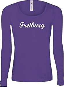 Shirtstown Lady-Longshirt City Stadt Shirt Freiburg Deine Stadt FUN kult, Größe XS-XL