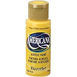 DecoArt Americana Acrylic Paint, 2-Ounce, Primary Yellow