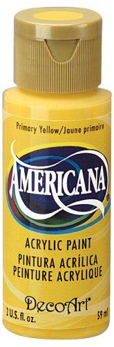 DecoArt Americana Acrylic Paint, 2-Ounce, Primary Yellow
