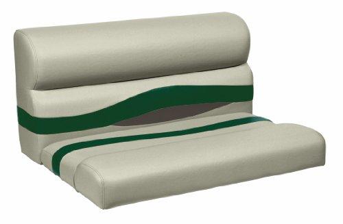 Wise Premier Series Pontoon Bench Seat Cushion Mocha Java Evergreen Rock Salt 36 Inch Hardware