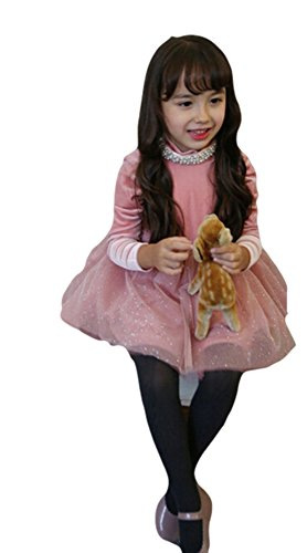 Baby Leonardo Little Girls Velvet Dresses Pink 5T