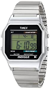 Timex Men's T78587 Silver-Tone Expansion Band Digital Watch