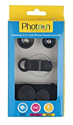 Photron 3-in-1 Universal Camera Lens Kit for Smartphones (Black)