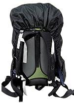 【ザックカバー】通勤・登山・ハイキング・トレッキング、雨の日の必需品!(黒・Sサイズ)