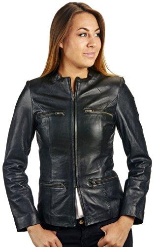 Billy Austins Women's Trendy Rider Leather Jacket X-Large